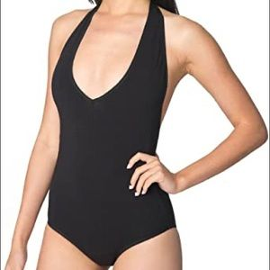 American Apparel Cotton Spandex Halter One-Piece